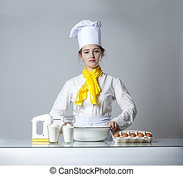 cook in kitchen