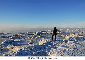 Cook Inlet Alaska in winter