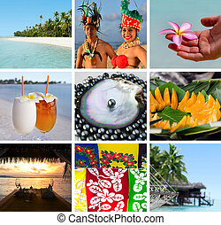Cook Islands collage. Travel Israel