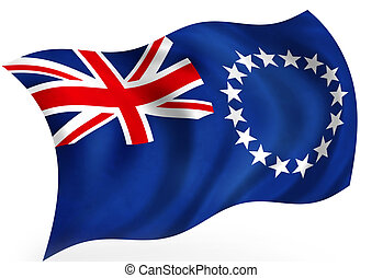 Cook Islands flag; isolated