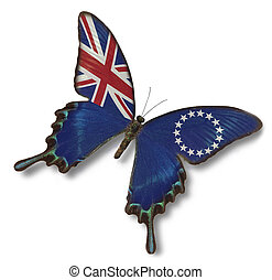 Cook Islands flag on butterfly