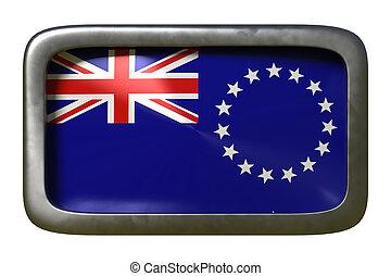 Cook Islands flag sign