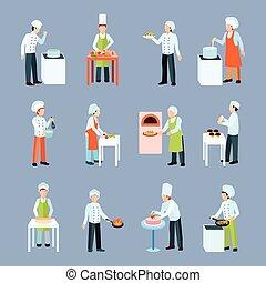 Cook Profession Icons Set