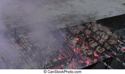 Cook skewers for Christmas