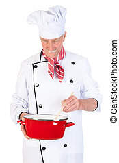 Cook stirring in the pan