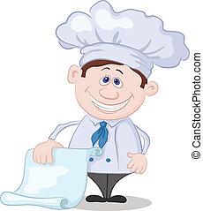 cook, tekst, jouw, leeg