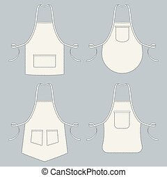 Cook uniform. Restaurant apron vector template collection