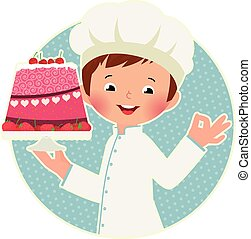 Cook with cake