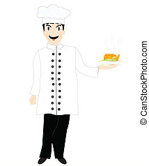 Cook with hot dish