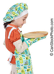 cook with surprise gesture - adorable future cook with...