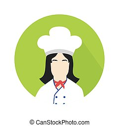 cook woman icon