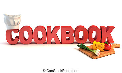 cookbook 3d concept