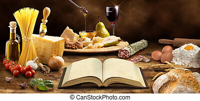 mediterranean cuisine - cookbook and ingredients of the...