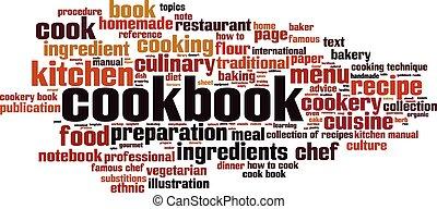Cookbook word cloud concept. Vector illustration