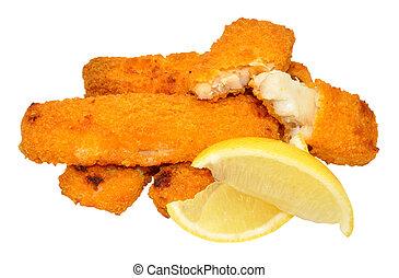 Cooked Breadcrumb Coated Fish Finge - Cooked breadcrumb...
