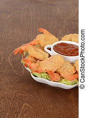 cooked breaded shrimp