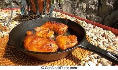 Cooked chiken straight out of oven
