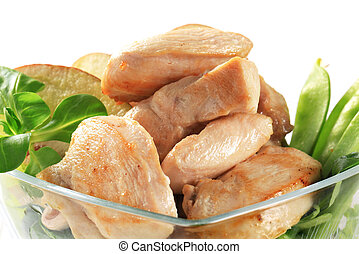Cooked chicken fillets