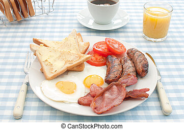 Cooked english breakfast - Delicious english breakfast fry...