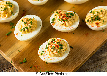 Cooked Organic Hard Boiled Eggs