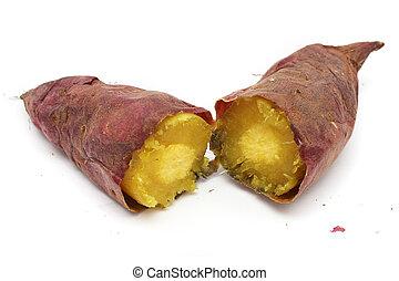 Cooked Purple Sweet Potato - A cooked purple sweet potato...