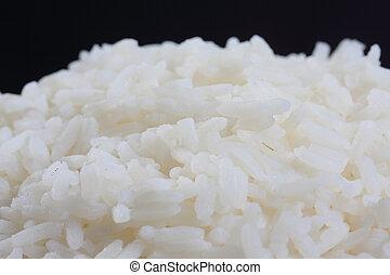 Cooked rice closeup - Cooked white rice closeup photo...
