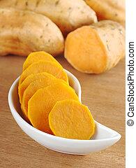 Cooked Sweet Potato - Cooked sweet potato (lat. Ipomoea...