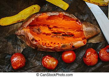 Cooked sweet potato
