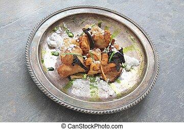 cooked wild mushroom