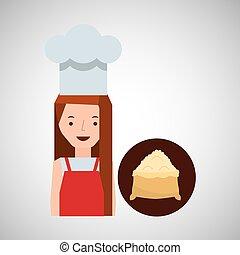 cooker girl flour sack