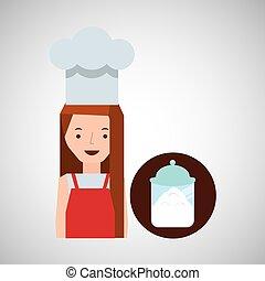 cooker girl sugar pot