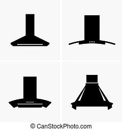 Cooker hoods - Set of four cooker hoods