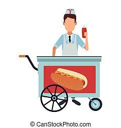 Cooker with hot dog stand