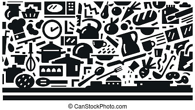 cookery - vector background