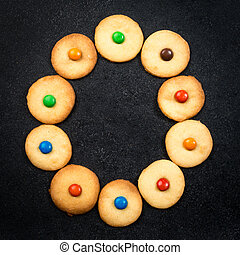 Homemade child cookies - O letter of the alphabet