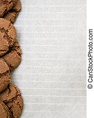 Cookie baking background