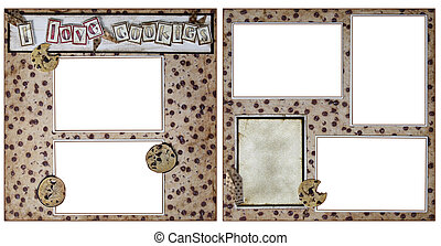 Cookie Baking Scrapbook Frame Template