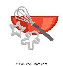 Cookie baking vector cooking utensils