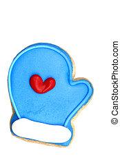Cookie - Blue Mitt - Blue Mitt sugar cookie (cookie series)....