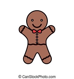 cookie Christmas with red bow in neck