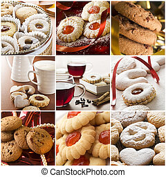 Beautiful cookie collage made from nine photos