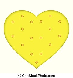 Cookie cracker in the form of heart