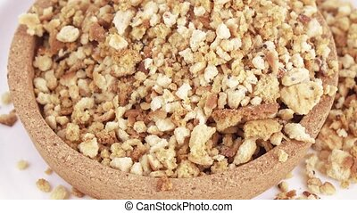 Cookie crumbs and bread - In the cork capacity the hill is ...
