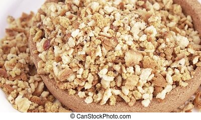 Cookie crumbs and bread - In the cork capacity the hill is...
