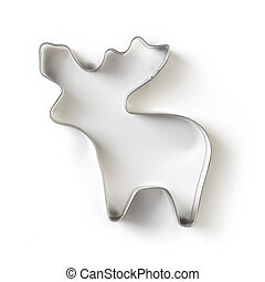 Cookie cutter isolated on white, from above