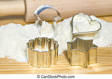 cookie cutters for Christmas bakery