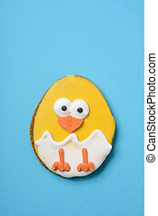 cookie decorated as a chick