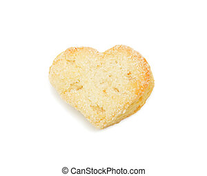Cookie 'heart', isolated