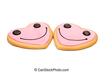 Cookie heart isolated