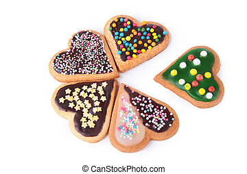 cookie heart shape isolated
